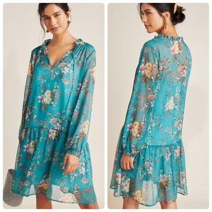 NWT Anthropologie Maeve Emmy Tunic Dress Floral